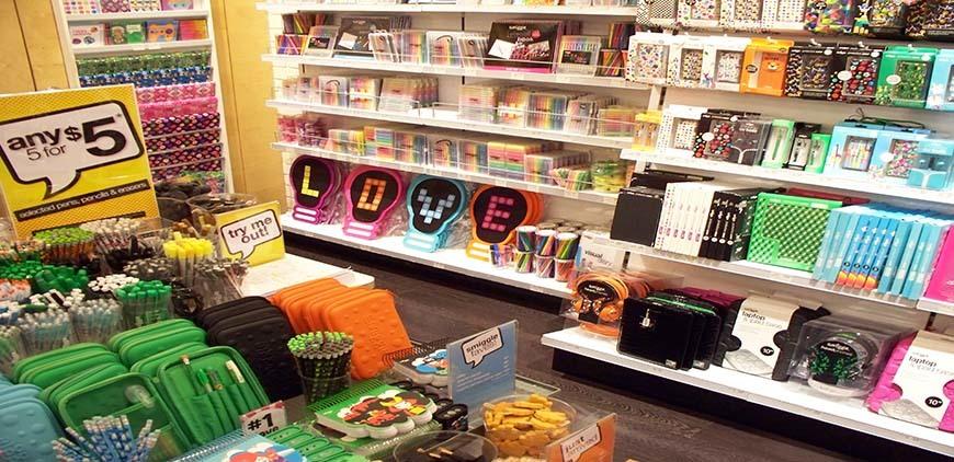 Small Merchandise on shelves