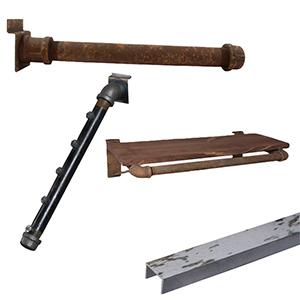 Rustic Slatwall Accessories
