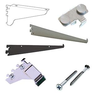 0.5'' Slot Heavy Duty Wall Standards Brackets & Accessories