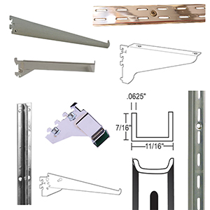 Slotted Wall Standards & Accessories