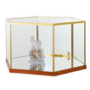 Hexagon Freestanding Jewelry Display Case Top Only