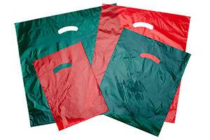 Gloss Christmas Plastic Merchandise Bags