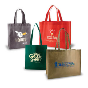 Personalized Silk Screened Non Woven Reusable Shopping Bags