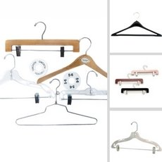 Metal, Plastic, and Wooden Hanger for any apparel.