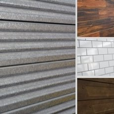 3D Textured Slatwall adds characters to any store with our Subway Tile, Heavy Metal, Old Paint, or Wood Slatwall.