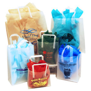 Personalized Frosted Plastic Shoppers
