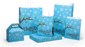 Winter Bird Design Packaging