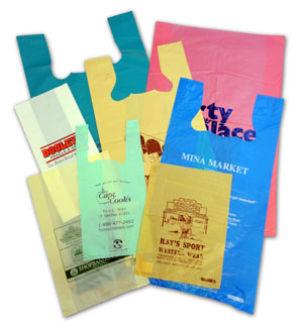 Personalized Hi-Density T-Shirt Plastic Retail Bags