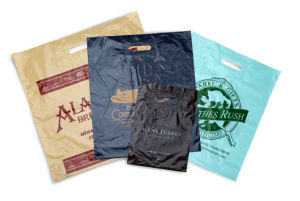 Personalized Lo-Density Reinforced Patch Handle Plastic Bags