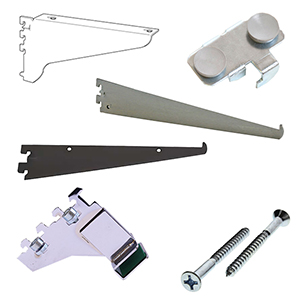 0.5'' Slot Heavy Duty Wall Standards Brackets & Accessories