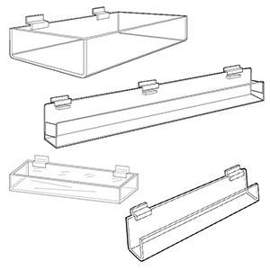 Slatwall Display Trays & Bins