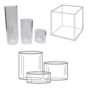 Acrylic Cubes & Cylinders