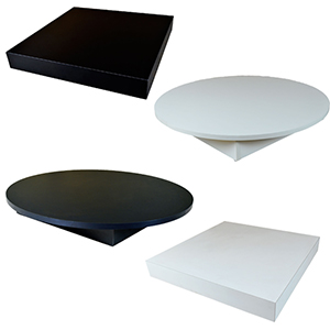 Melamine Bases for Glass Displays