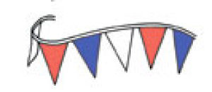 Red; White & Blue Pennants