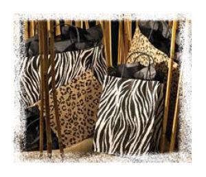Zebra & Leopard Paper Shopping Bags