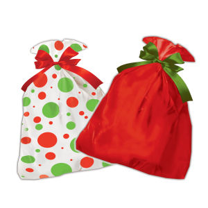Printed Plastic Holiday Bags