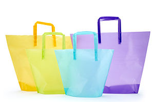 Frosted Trapezoid Shaped Bags