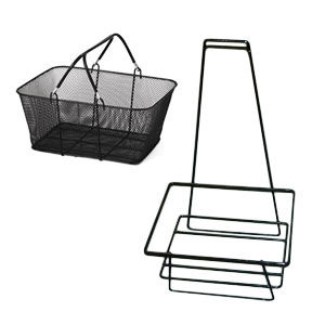 Hand Carry Wire Mesh Shopping Baskets