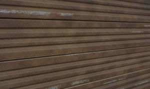 Corrugated Metal Textured Slatwall