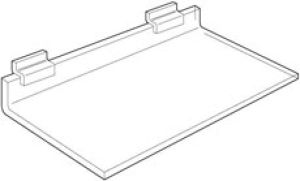 Acrylic Shelves for Slatwall; Gridwall or Pegboard; Deluxe 1 4""