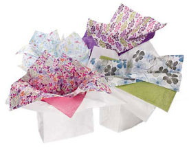 Tissue Paper; Shreds & Polypropylene Rolls