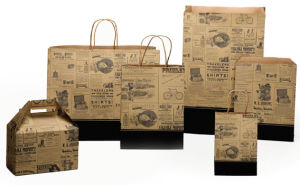 Newsprint Collection Bags and Boxes