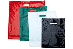 Patch Handle Plastic Merchandise Bags