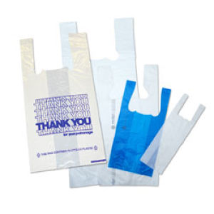 Hi Density Plastic Bags with T Shirt Handle