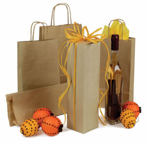 Natural Kraft Wine Bags and Boxes