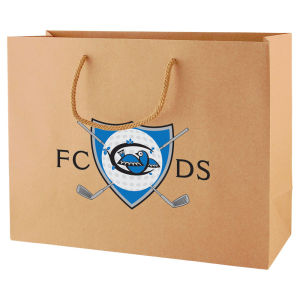 Natural and White Kraft Paper Euro Tote Bags