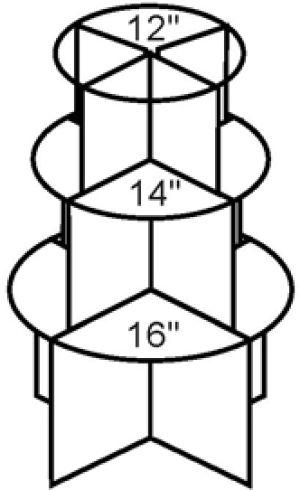 3 Tier Graduated Tower