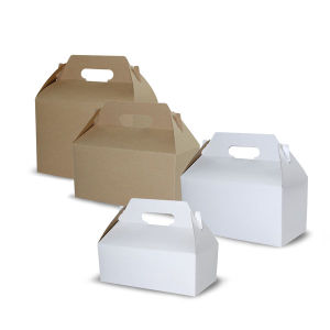 White and Brown Kraft Gable Boxes