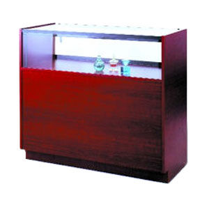 Full Sized Quarter Vision Jewelry Showcase w Wood Sides