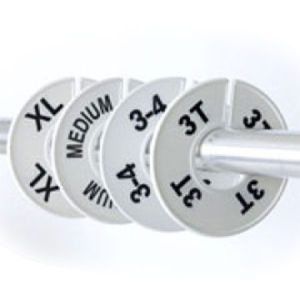 Size Dividers Round White with Black Numbers
