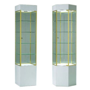 Fineline Tower Glass Display Cases