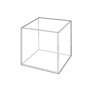 "Acrylic Open Cubes 3 16"" Clear"