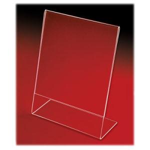 Acrylic Slant Back Countertop Sign Holders