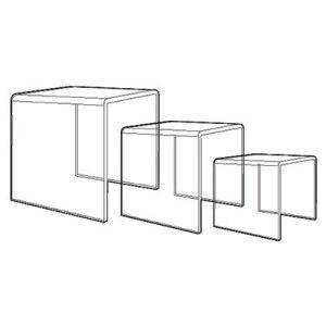 """1 4"""" Acrylic Risers Sets & Individual"""
