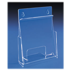 "Acrylic Literature Holder for Walls or Slatwall Deluxe ""Hold It"""