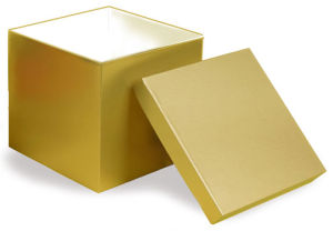 Hi Wall 2 Piece Gold Boxes & Lids