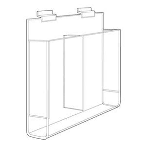 Acrylic Literature Holder for Wallmount Double Pocket