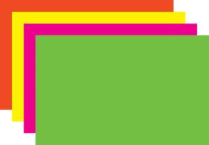 Rainbow Fluorescent Sign Cards