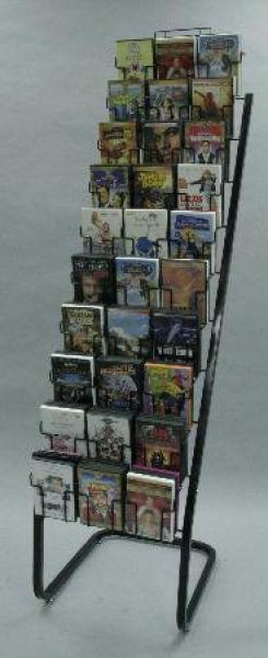 30 Pocket DVD Floor Display