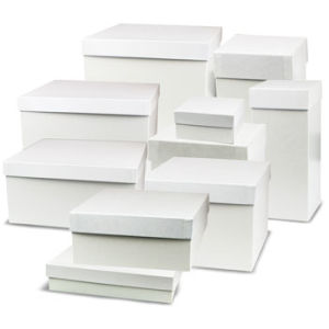 White Gift Boxes with Lids