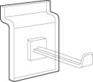 Acrylic Faceout Hook for Slatwall or Slatgrid
