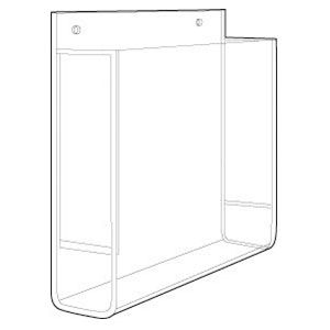 Acrylic Brochure Holders for Slatwall; Gridwall or Wallmount for 1;2;3 Pocket