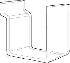 Acrylic Hook for Slatwall or Slatgrid
