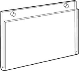Acrylic Sign Holders for Wallmount Extra Large