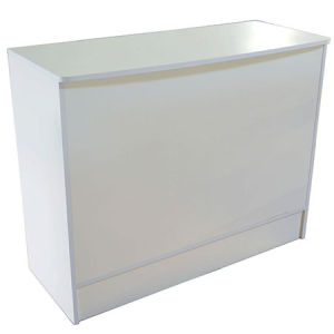 "White Wrap Counter 48""x20""x38"""