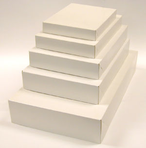 White 2 Piece Pop Up Apparel Boxes